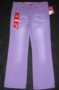 Hello Kitty Pants Jeans Clothing Girls size 5 6 Purple