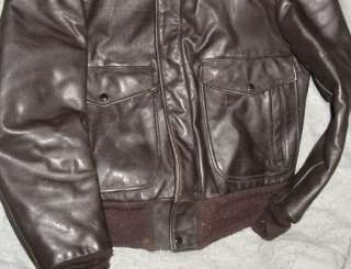 Vintage Schott Leather Flight Bomber Jacket I S 674 RARE Mens 38 A 2