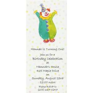 Clown Birthday Party Invitations Toys & Games