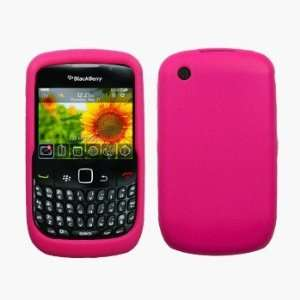 Hot Pink Silicone Case / Skin / Cover for RIM BlackBerry