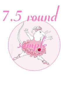 ANGELINA BALLERINA ROUND EDIBLE CAKE TOPPER clik2c all