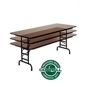 Commercial Duty Folding Table, Adjustable Height 30 X 72