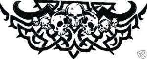 SKULL #127 DECAL GRAPHIC CAR TRUCK SEMI TRAILER SUV VAN