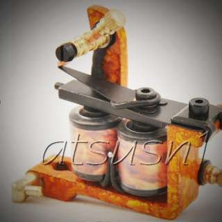 Custom Pro Top Hand Made 10 Wrap Coil Tattoo Machine Gun kit from 13