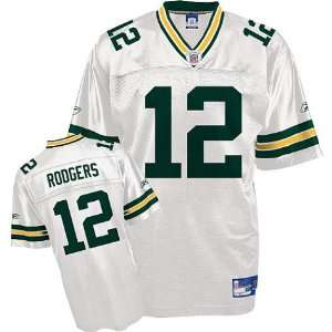 Youth Green Bay Packers #12 Aaron Rodgers Road Replica