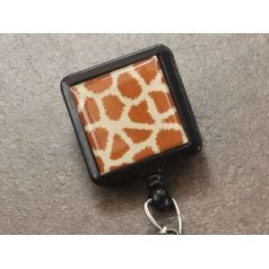 Giraffe Safari Collection Retractable Reel ID Badge Holder