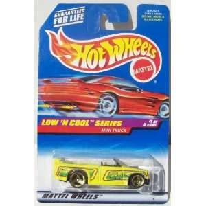 Hot Wheels 1998 164 Scale Low N Cool Series 1/4 Yellow Mini Truck
