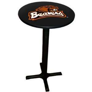 Oregon State Beavers Pub Table with Black Commercial Base