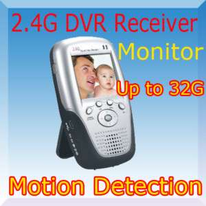 Wireless Portable AV Record DVR Monitor Motion Detect