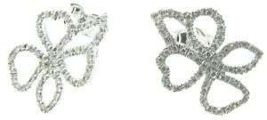 Gucci 18k White Gold & Pave Diamond Earrings
