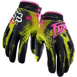 Fox Racing 360 Riot Gloves   11/Acid Green Automotive