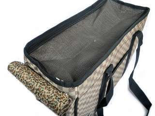 Designer Dog Puppy Pet Travel Carrier Checked Bag S