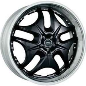 Motegi DP1 17x7 Black Wheel / Rim 5x110 & 5x120 with a 42mm Offset and