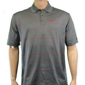Nike Tiger Woods Fit Dry Striped Golf Polo w/ Tour Swoosh