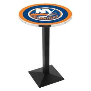 42 New York Islanders Bar Height Pub Table   Square Base