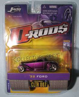 JADA TOYS DRODS 32 FORD SCALE 1/64 WAVE 1 PURPLE