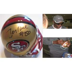 JERRY RICE,SAN FRANCISCO,49ERS,SF,RAIDERS,HALL OF FAME,SIGNED MINI