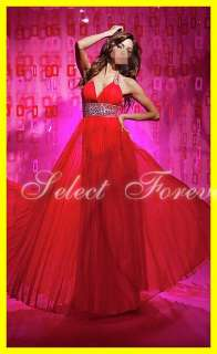 Hot A line Halter Chiffon Formal Evening Party Long Prom Dresses Gowns