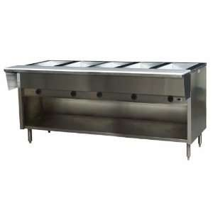 Eagle HT5OB 240 5 Well Portable Electric Hot Food Table   Spec Master