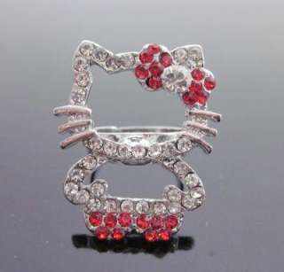 red bow full body crystal ring fashion wholesale pric gift