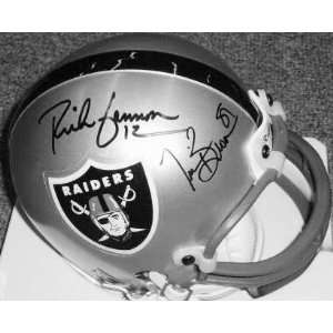 Tim Brown and Rich Gannon Oakland Raiders Autographed Riddell Mini