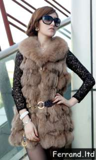 New Real Genuine Fox Fur Women Coat/Jacket/Vest For Winter 8 Colors