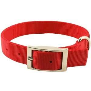 Guardian Gear 18 Inch Double Layer Nylon Dog Collar, Red