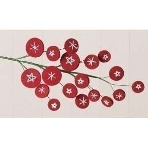Club Pack of 12 Wonderful Christmas Time Red Felt Disk
