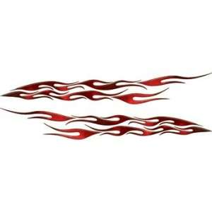 Red Fire Flame decal kit for Car, Truck, Motorcycle or ATV   7 h x 50
