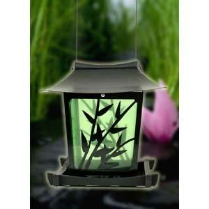 Perky Pet WB Lotus Bird Feeder Metal and Plastic, Satin Black Finish