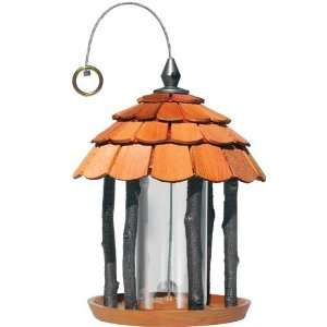 Perky Pet Gazebo Wood Bird Feeder, Multi Port with Sure Lock Cap