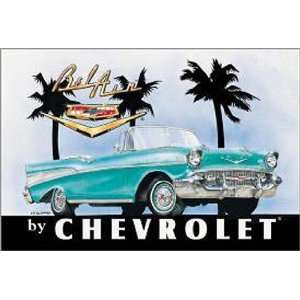 Automotive Chevrolet Metal Tin Sign Chevy 57 Bel Air