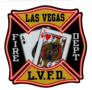 LAS VEGAS FIRE DEPARTMENT FULL COLOR REFLECTIVE DECAL