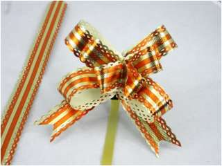 WHOLESALE LOT OF 50 STRIPE RIBBONS BOWS GIFT WRAPPING