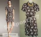 325 Kate Spade New York Giraffe Animal Print Dress Shirtdress 0 2 4
