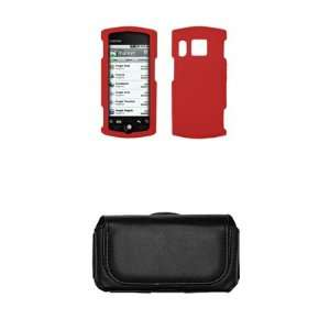 Kyocera Zio M6000 Red Silicone Gel Skin Cover Case