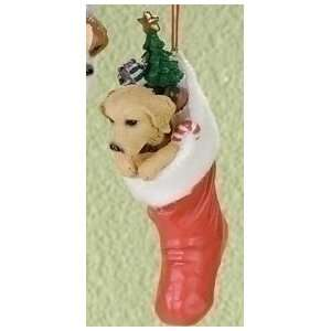 Golden Retriever Bobble Head Puppy Dog Christmas Ornament