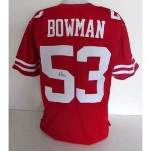 San Francisco 49ers NaVorro Bowman Autographed Red Jersey JSA