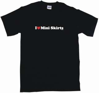 Heart (Love) Mini Skirts Mens tee Shirt PICK SIZE