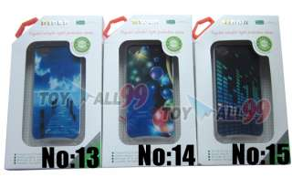 LED iphone Case Cover for Apple iPhone 4 4S 4G LED LCD Color changed