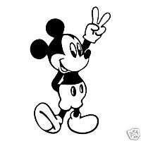MICKEY MOUSE PEACE SIGN VINYL STICKER DECAL