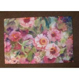Pink Floral Flower Abstract Indoor Outdoor Rug Mat