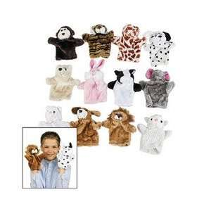 PLUSH ANIMAL HAND PUPPETS (1 DOZEN)   BULK Toys & Games