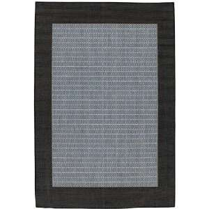 Checkered Field Design Rug 76 Square Blue