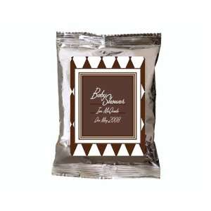Brown Diamond Design Personalized Hot Cocoa Favors (Set of 24) Baby
