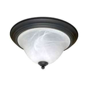 383 Castillo 2 Light Textured Black Close to Ceiling