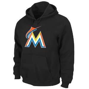 Miami Marlins Suede Tek Patch Hooded Sweatshirt