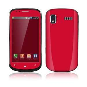 Samsung Focus ( i917 ) Skin Decal Sticker   Simply Red