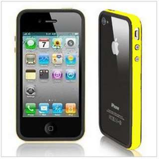 Black Yellow Bumper Frame TPU Case for Apple iPhone 4S CDMA 4G With