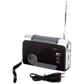 Japan® Wind Up FM/Weather Radio/LED Flashlight